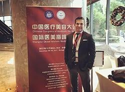 Dr. Calobrace in China at a convention
