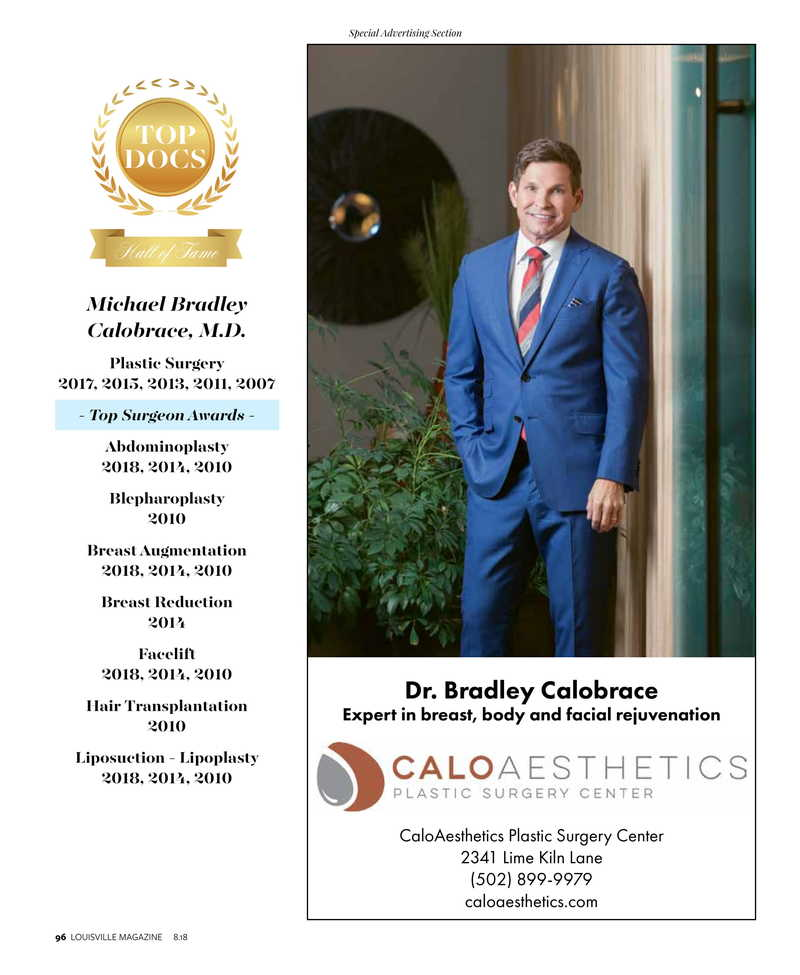 Dr. Calobrace Top Docs award